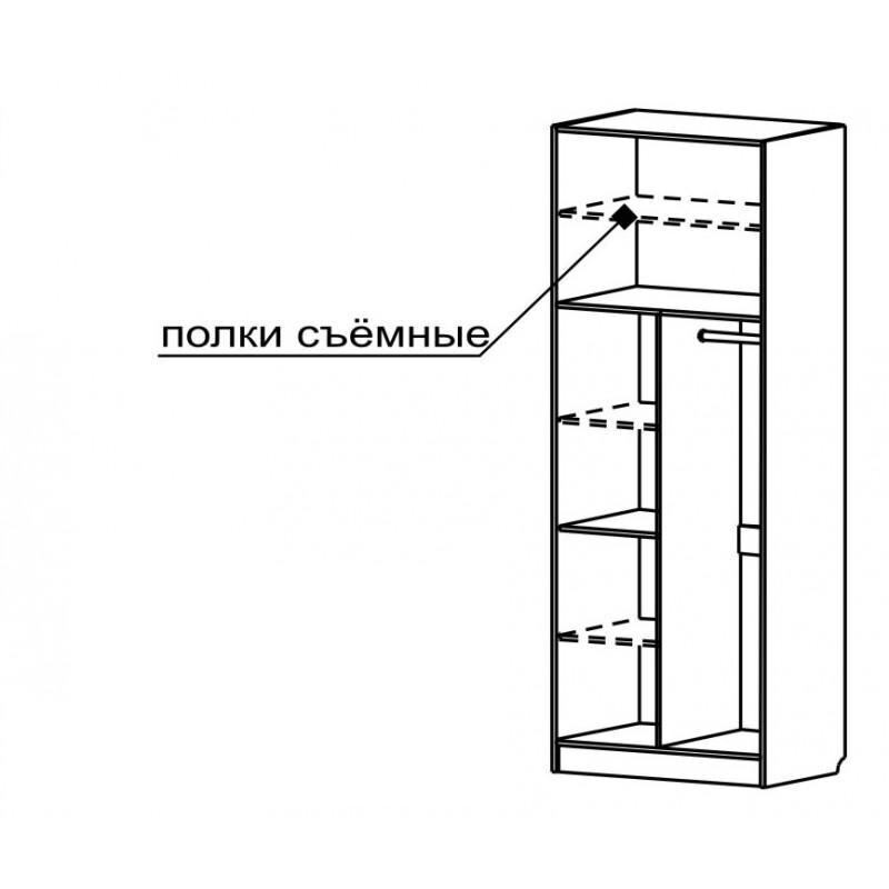 """Купить шкаф 2-х дверный с 402 м от производителя """"волхова"""" в."""